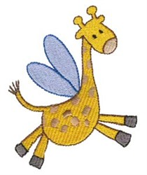 Giraffe Sprite embroidery design