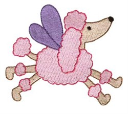 Poodle Sprite embroidery design