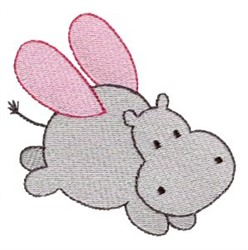 Hippo Sprite embroidery design
