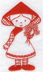 Kids Of The World Redwork embroidery design