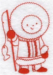 Kids Of The World Inuit Redwork embroidery design