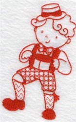 Kids Of The World Germany Redwork embroidery design