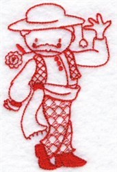 Kids Of The World Spain Redworkk embroidery design
