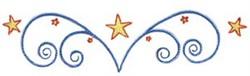Swirly Stars embroidery design