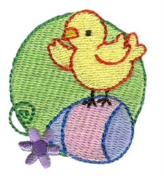 Easter Mini Chick And Egg embroidery design