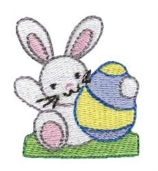 Easter Rabbit Mini embroidery design