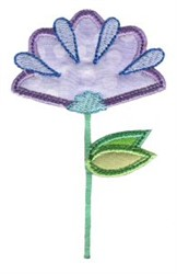 Simply Spring Applique Flower embroidery design