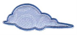 Simply Spring Applique Cloud embroidery design
