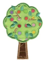 Simply Spring Applique Fruit Tree embroidery design
