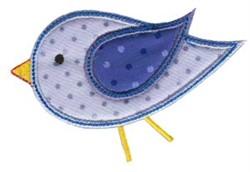 Simply Spring Applique Bird embroidery design