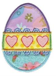 Simply Spring Applique Egg embroidery design