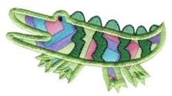Jungle Daze Applique Alligator embroidery design