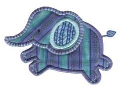 Jungle Daze Elephant Applique embroidery design