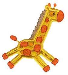 Jungle Daze Giraffe Applique embroidery design