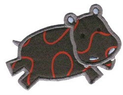 Jungle Daze Hippo Applique embroidery design