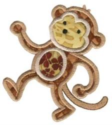 Jungle Daze Monkey Applique embroidery design