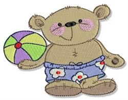 Summertime Teddy Bears embroidery design