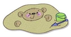 Summer Teddy Bear embroidery design