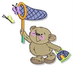 Teddy Bear & Butterflies embroidery design