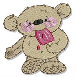 Teddy Bear & Popsicle embroidery design
