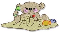 Sand Castle Teddy Bears embroidery design