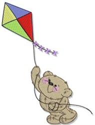 Kite Flying Teddy Bear embroidery design