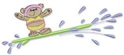 Surfing Teddy Bear embroidery design