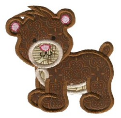 Sweet Applique Puppy embroidery design