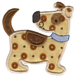 Sweet Spotted Puppy Applique embroidery design