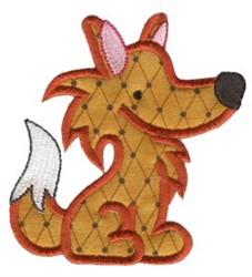 Sweet Applique Fox embroidery design