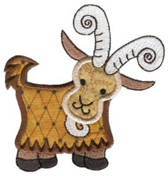 Sweet Applique Goat embroidery design