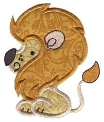 Sweet Applique Lion embroidery design