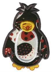 Sweet Applique Penguin embroidery design