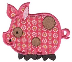 Sweet Applique Pig embroidery design