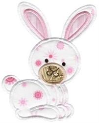 Sweet Applique Rabbit embroidery design