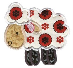 Sweet Applique Sheep embroidery design