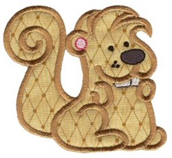 Sweet Applique Squirrel embroidery design