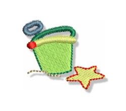 Mini Beach Pail embroidery design