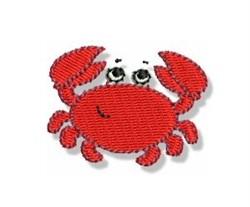Mini Beach Crab embroidery design