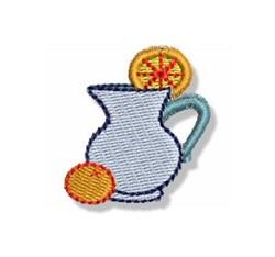 Mini Orange Drink Pitcher embroidery design