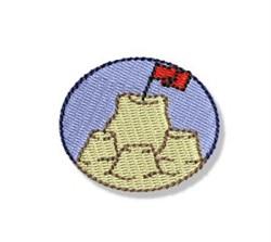 Mini Sand Castle embroidery design