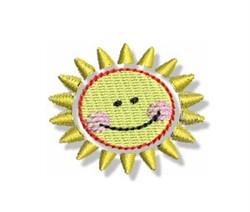 Mini Happy Sun embroidery design