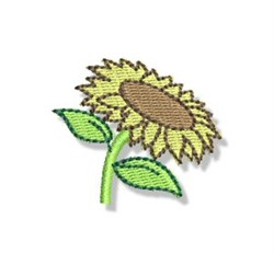 Mini Sunflower embroidery design
