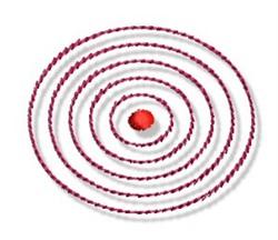 Circles & Dot embroidery design
