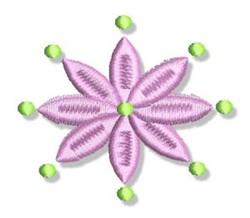 Flower Petals & Dots embroidery design