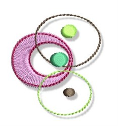 Circular Dots Border embroidery design
