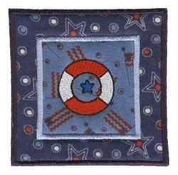 Nautical Applique Life Preserver embroidery design