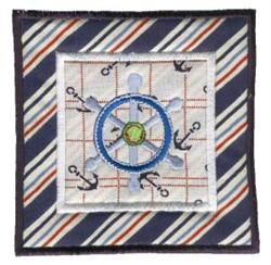 Nautical Applique Ships Wheel embroidery design