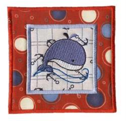 Nautical Applique Whale Block embroidery design