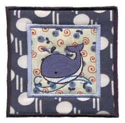 Nautical Applique Orca Block embroidery design